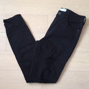 Kendall + Kylie Distressed Black Skinny Jeans